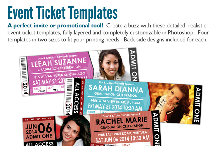 Comfortable Templates For Event Tickets Contemporary - Example ...