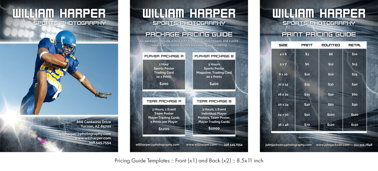youth sports photography templates - sports package